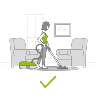 postura vacuuming